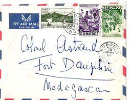 Lettre Cover Brief .Belle Enveloppe Des Comores, Cachet Moroni. - Comoren (1975-...)