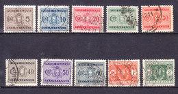 1934 SEGNATASSE FASCI Filigr. CORONA LOTTO 10 BOLLI  USATO - 1900-44 Vittorio Emanuele III