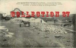 63 ☺♦♦ LES ANCIZES SAINT GEORGES - CONSTRUCTION Des USINES ELECTRO METALLURGIQUES - TRIAGE Des PIERRES - Frankreich