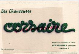 85- LES HERBIERS- RARE BUVARD RONDEAU FRERES- CHAUSSURES CORSAIRE-IMPRIMERIE MARCEL SCHMITT BELFORT - Chaussures