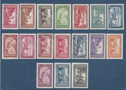 Monaco - YT N° 119 à 133 - Neuf Sans Gomme, N° 128 Taché - 1933 à 1937 - Monaco