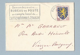 N° 1354 Sur Seul Sur Enveloppe  Mignonnette Correspondance Carte De Visite Avec Vœux Pour 1963 Du 2/1/63 - Postmark Collection (Covers)