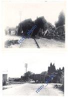 Lot 28 Photos Catastrophe Ferroviaire, Train Contre Autobus à Châteauneuf Les Martigues, 1936 - Trains