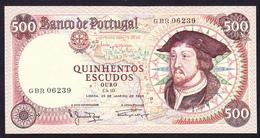 Portugal - 500, Quinhentos Escudos / 25 De Janeiro De 1966 - Portugal