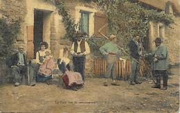 INDRE - LA PAIE DES MOISSONNEURS - POSTEE DE BRENNE EDIT. E.L.D. CARTE COLORISEE 2 SCANS PORT GRATUIT - France