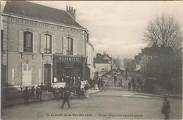 72 - Circuit De La Sarthe, Juin 1906 - Virage Dangereux Dans Connerré - Connerre