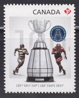 CANADA 2012, # 2598i  100th GREY CUP GAME WINNER   DIE CUT FROM QUATERLY PACK - Carnets