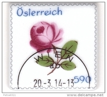 AUSTRIA ÖSTERREICH 2014 Augarten Porzellan, Wiener Rose (Block) USED / O / GESTEMPELT - 1945-.... 2. Republik