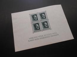 D.R.Mi Block 7*/MLH - 1937 - (Marken **MNH) - RS Links Oben Dünne Papierstelle - Mi 24.00 € - Bloques