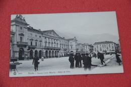 Aosta Piazza Carlo Alberto Con Bella Animazione Ed. Brunner NV - Non Classés