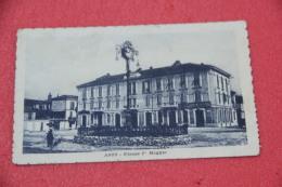 Asti Piazza 1° Maggio Animata 1918 Con Timbro Di Arrivo Di Falerone - Sin Clasificación
