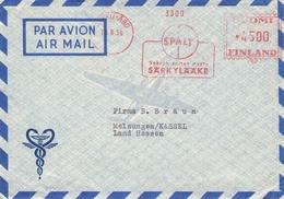 FINLAND - AIR MAIL LETTER 1959 TURKU - MELSUNGEN/GERMANY - Luchtpostzegels