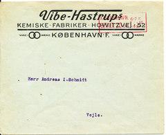 Denmark Cover With Meter Cancel Copenhagen 21-2-1924 (Larsen & Hinz) - 1913-47 (Christian X)