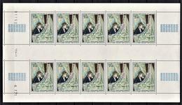 MONACO 1972  - FEUILLE DE 10 TP / N° 877 - NEUFS** - Blocks & Sheetlets