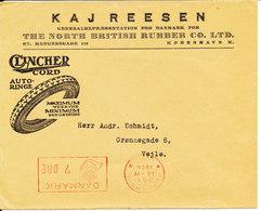 Denmark Cover With Meter Cancel Copenhagen 10-4-1924 (Kaj Reesen Clincher Cord Autoringe) - 1913-47 (Christian X)