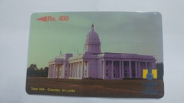Sri Lanka-town Hall-colombo-(15srla013465)-(rs400)-used Card+1card Prepiad Card Free - Sri Lanka (Ceylon)