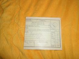 DOCUMENT  DE 1939. / CROATIE NAKNADNI SPROVODNI LIST.../ CACHET + TIMBRES X2. - Croatie