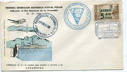 SOBRE OBLITERADO DIA NACIONAL DE LA ANTARTIDA 1965 HISTORIA POSTAL ANTARTICA ARGENTINA USHUAIA SPC -LILHU - Polar Philately