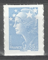 """France, """"Marianne De Beaujard"""", 1.35€, 2010, MNH VF Self-adhesive Stamp - 2008-13 Marianne Of Beaujard"""