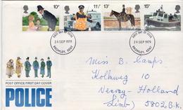 Postal History Cover: GB Used FDC - Police - Gendarmerie