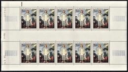 MONACO 1972 FEUILLE DE 10 TP / N° 878 NEUFS** - Blocks & Sheetlets