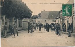 H174 - 28 - ALLONNES - Eure-et-Loir - Place De La Mairie - Recensement Des Chevaux - Francia