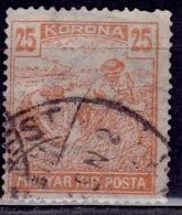 Hungary, 1920-24, Harvesting Wheat, 25k, Sc#353, Used - Hungary