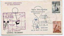 SOBRE OBLITERADO FUERZA AEREA ARGENTINA SERVICIO METEROLOGICO NACIONAL INAGURACION ESTACION RADIOSONDEO 1970 -LILHU - Polar Philately