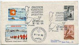 SOBRE TURISMO ANTARTICO OBLITERADO CRUCEROS TURISTICOS ANTARTIDA ARGENTINA 1974 FDC CIRCULADO -LILHU - Polar Philately