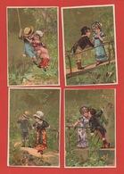 Série Complète 6 Chromos Lith. Testu & Massin, Cat. Sorisi TM24-2, Amoureux - Chromos