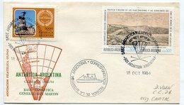 SOBRE ANTARTIDA ARGENTINA BASE ANTARTICA GENERAL SAN MARTIN 1984 SPC -LILHU - Polar Philately