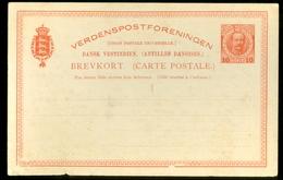 DANSK.V.ESTINDIEN BREVKORT 10 BIT ONGEBRUIKT (11.445f) - Deens West-Indië