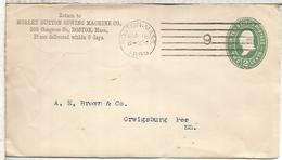 ESTADOS UNIDOS USA 1895 ENTERO POSTAL MORLEY SEWING MACHINE MAQUINA DE COSER - Textiles