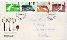 Postal History Cover: GB Used FDC - Tennis