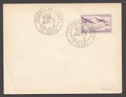 1942  Enveloppe Commémorative Journée Du Timbre- Le Havre  Oeuvres De L'air Yv 540 - France