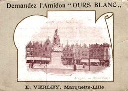 CHROMO  AMIDON OURS BLANC E. VERLAY  MARQUETTE-LILLE  BRUGES GRAND'PLACE - Chromos