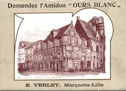 CHROMO  AMIDON OURS BLANC E. VERLAY  MARQUETTE-LILLE   MALINES ANCIEN PARLEMENT - Chromos