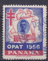 OPAT 1956. USED STAMP-VIÑETA PANAMA ANTITUBERCULOSIS- BLEUP - Disease