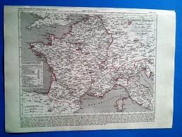 Carte Géographique Ancienne Empire Français Et Royaume D'Italie En 1809 Dressée Sous La Direction De A.Houzé - Carte Geographique