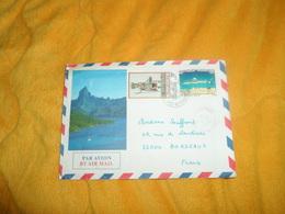 ENVELOPPE UNIQUEMENT DE 1986. / TAHITI CACHETS ?...AEROPORT ILE DE TAHITI. / CACHETS + TIMBRES X2.. - Tahiti