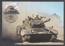 CARTE MAXIMUM DE BELGIQUE - 50EME ANNIVERSAIRE DE L'OTAN : FORCE TERRESTRE - OTAN
