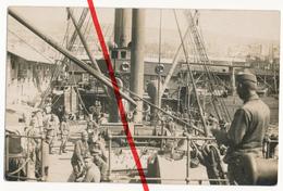 Ca. 1915 - Erster Weltkrieg - Schiff Besatzung Dampfer Kriegsschiff Matrosen - K.u.K. Armee - Vielleicht In Serbien Ship - Warships