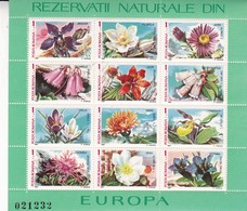 REZERVATII NATURALE DIN EUROPA. POSTA ROMANA, YEAR 1987 FULL BLOCK FLORA FLOWERS FLEURES-TBE- BLEUP - 1948-.... Republics