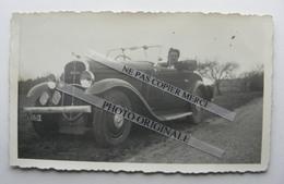 Femme Pose Dans Une Voiture Auto Rosengart Cabriolet Photo Originale Real Photo - Automobiles