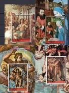 Michelangelo Gemälde Ajman Blocks 406,421,481,483 O 23€ Weihnachten Madonna Kapelle S/s Art Blocs Sheets Christmas - Gemälde