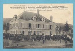 RARE CPA 10 Aube MANIFESTATIONS VIGNERONS CHAMPENOIS à POLISOT Maison Cormillot - France