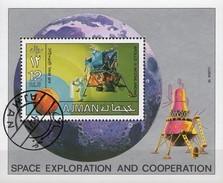 Astronauten Apollo 11 USA Raumfahrt-Projekt 1971 Ajman Block 328 O 2€ Crew Mond-Fähre Bloc Ss NASA Sheet M/s Bf VAE - Space