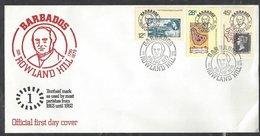 Barbados FDC, 1979, Anniversary Sir Rowland Hill - Barbados (1966-...)