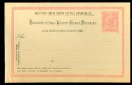 Lettre * AUTRICHE * EMPIRE * CP éffigie F.Joseph à 10 Heller Rouge + Carte Responce * Neuf * Ongebruikt  (11.445n) - Covers & Documents