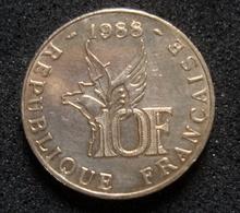 Piece De 10 Francs République Française De 1988, Roland Garros, Tranche B, N° Catalogue F.372 - France